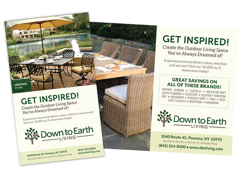 Down to Earth Print Ads