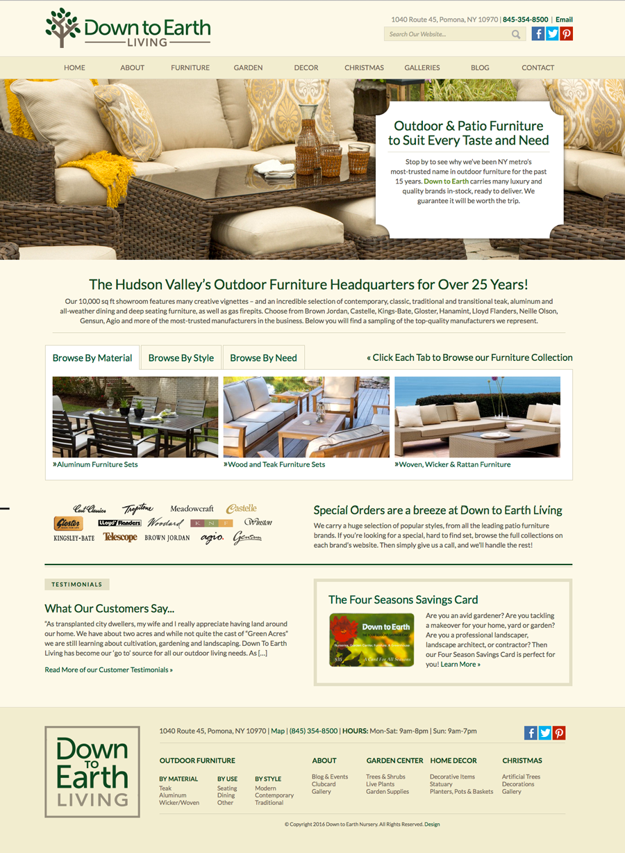 DTE Living Furniture Page