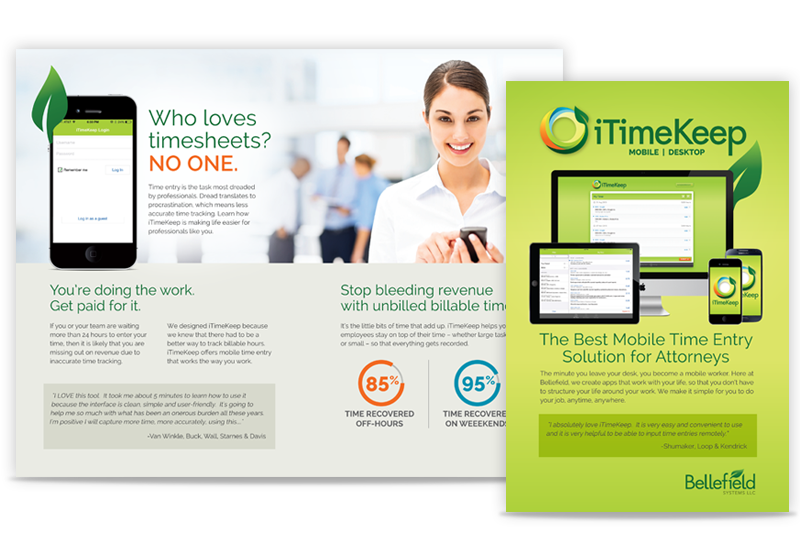 Brochure for iTimeKeep