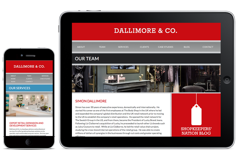 Dallimore & Co Mobile Website