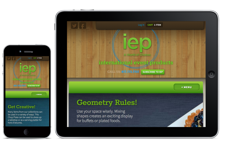 IEP Website Mobile Website