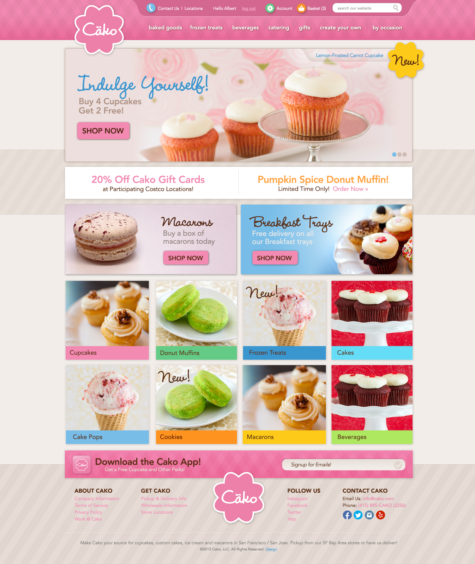 Cako Bakeries Home Page
