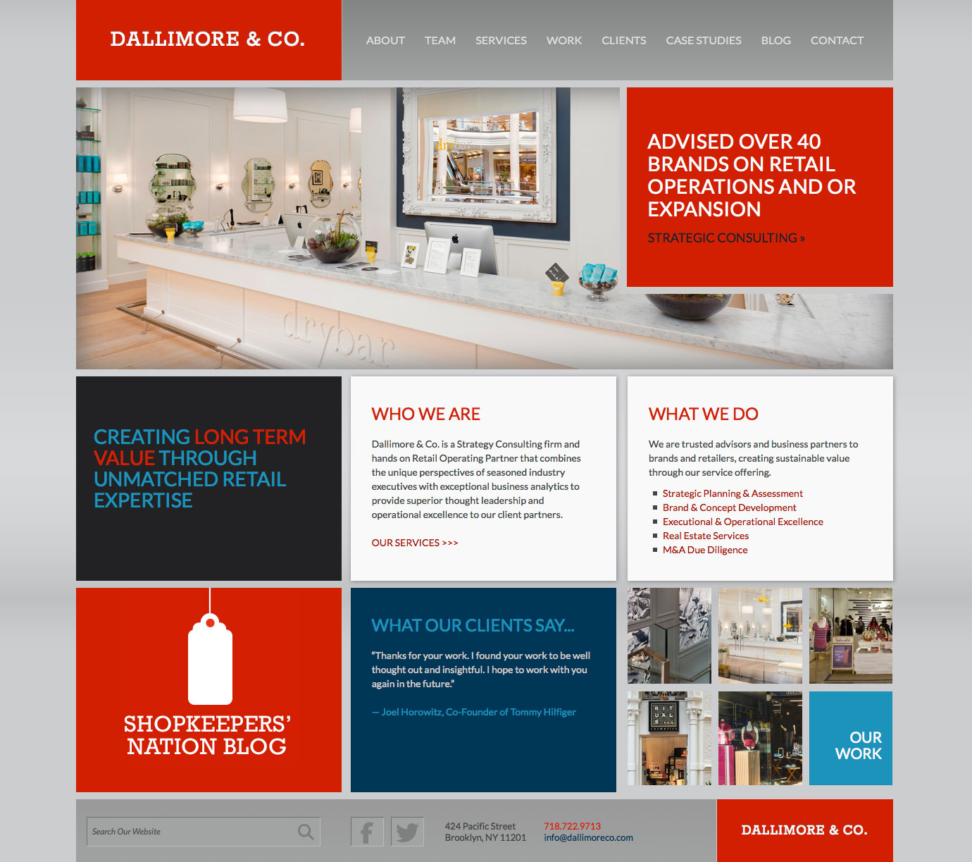 Dallimore & Co. Case homepage