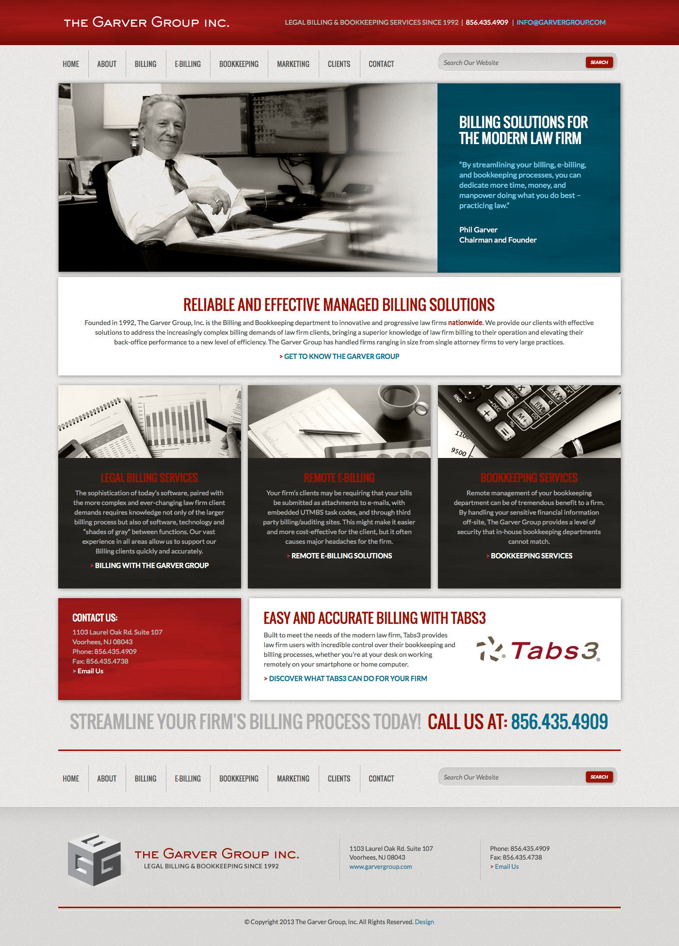 Garver Group Website Homepage