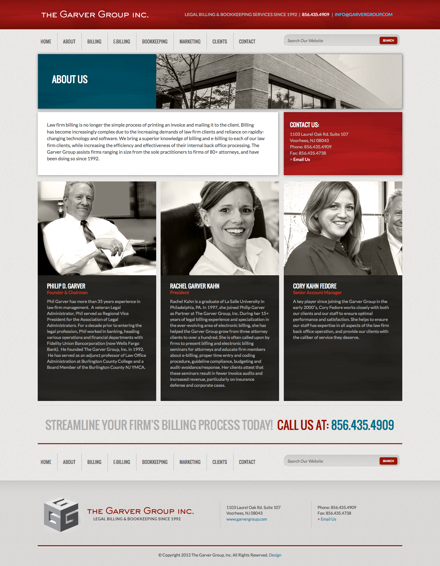 Garver Group Website Interior Page