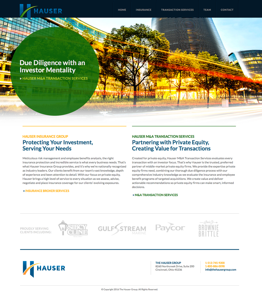 The Hauser Group – M&A Home Page