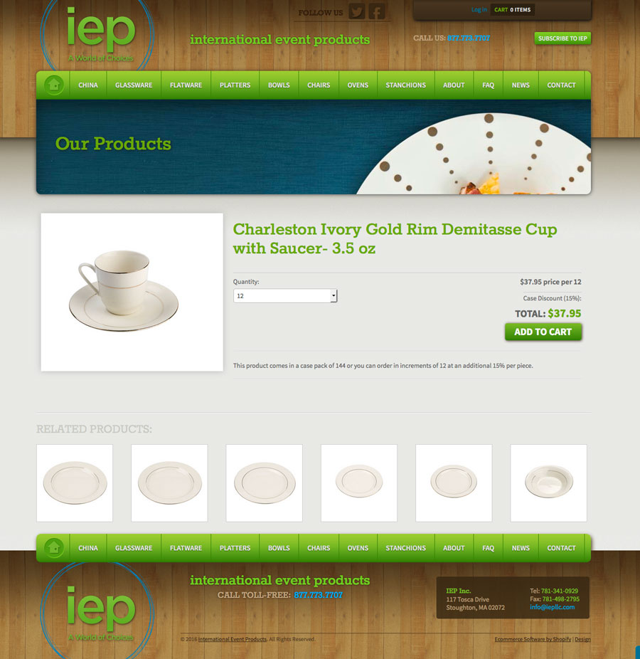 IEP Website Product Page