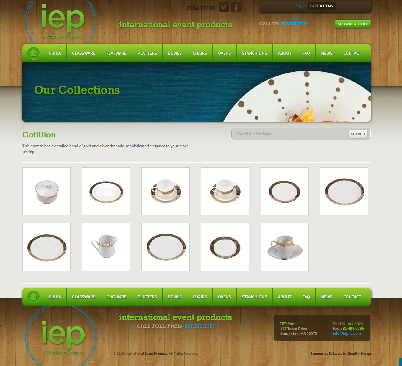 IEP Website Products Page