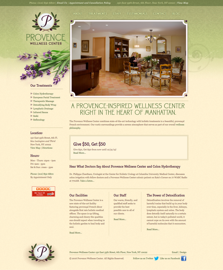 Provence Wellness Center Home Page