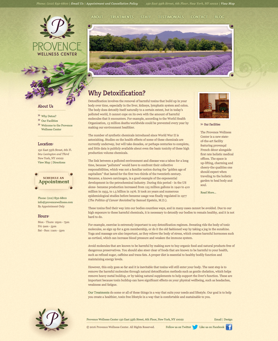 Provence Wellness Center Interior Page