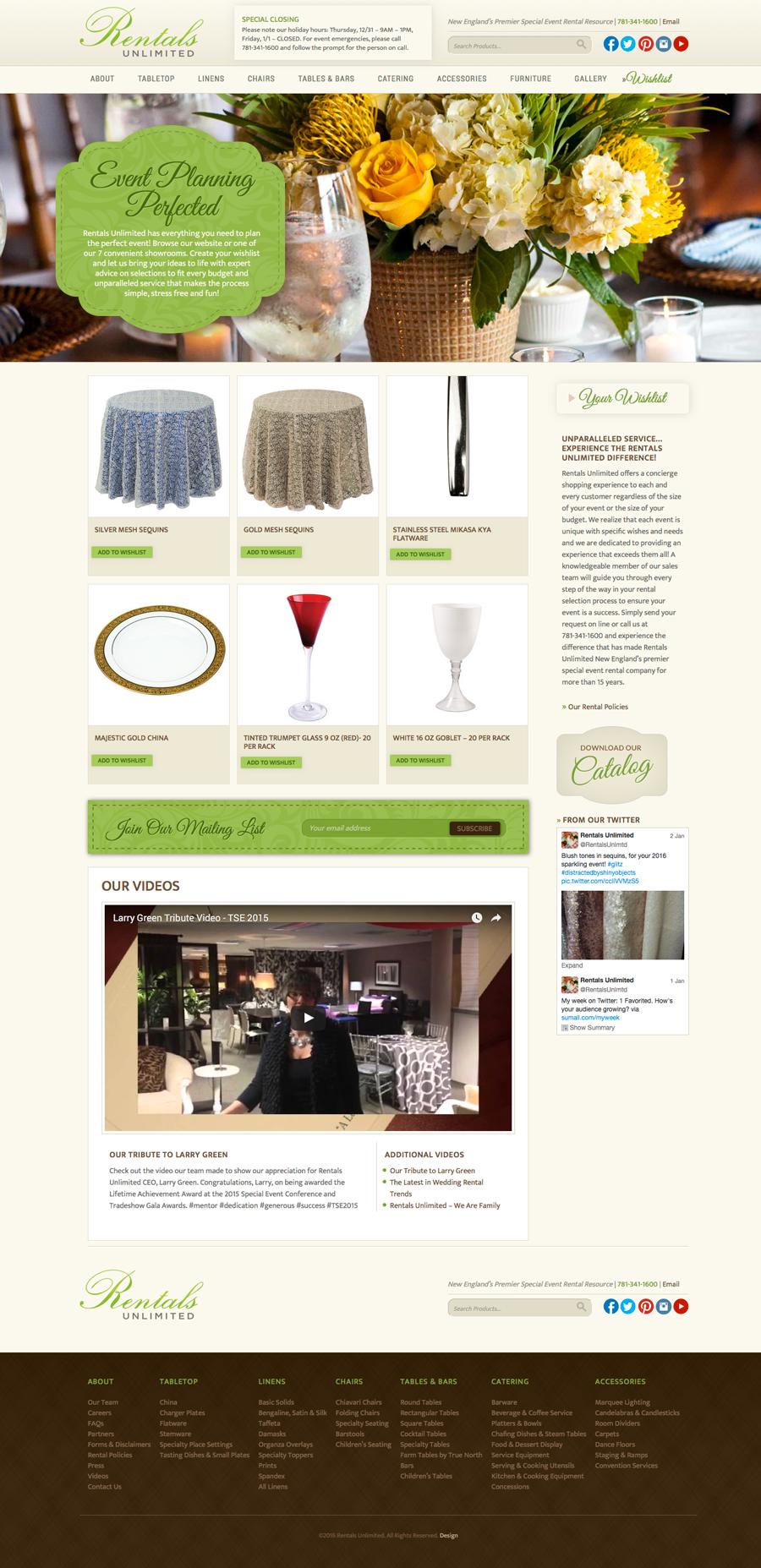 Rentals Unlimited Homepage
