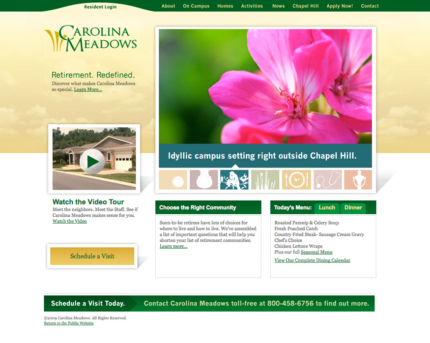 Carolina Meadows Homepage