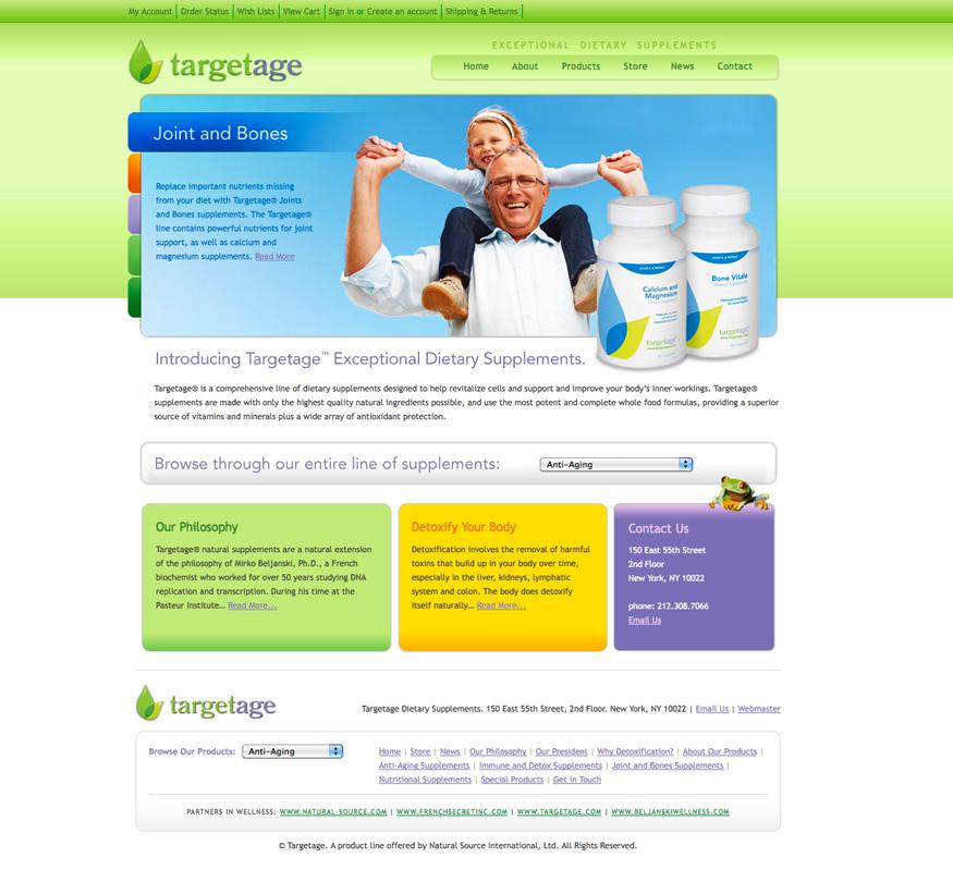 Targetage Homepage