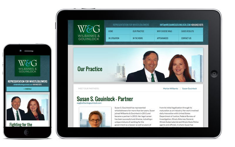 Wilbanks & Gouinlock Mobile Website