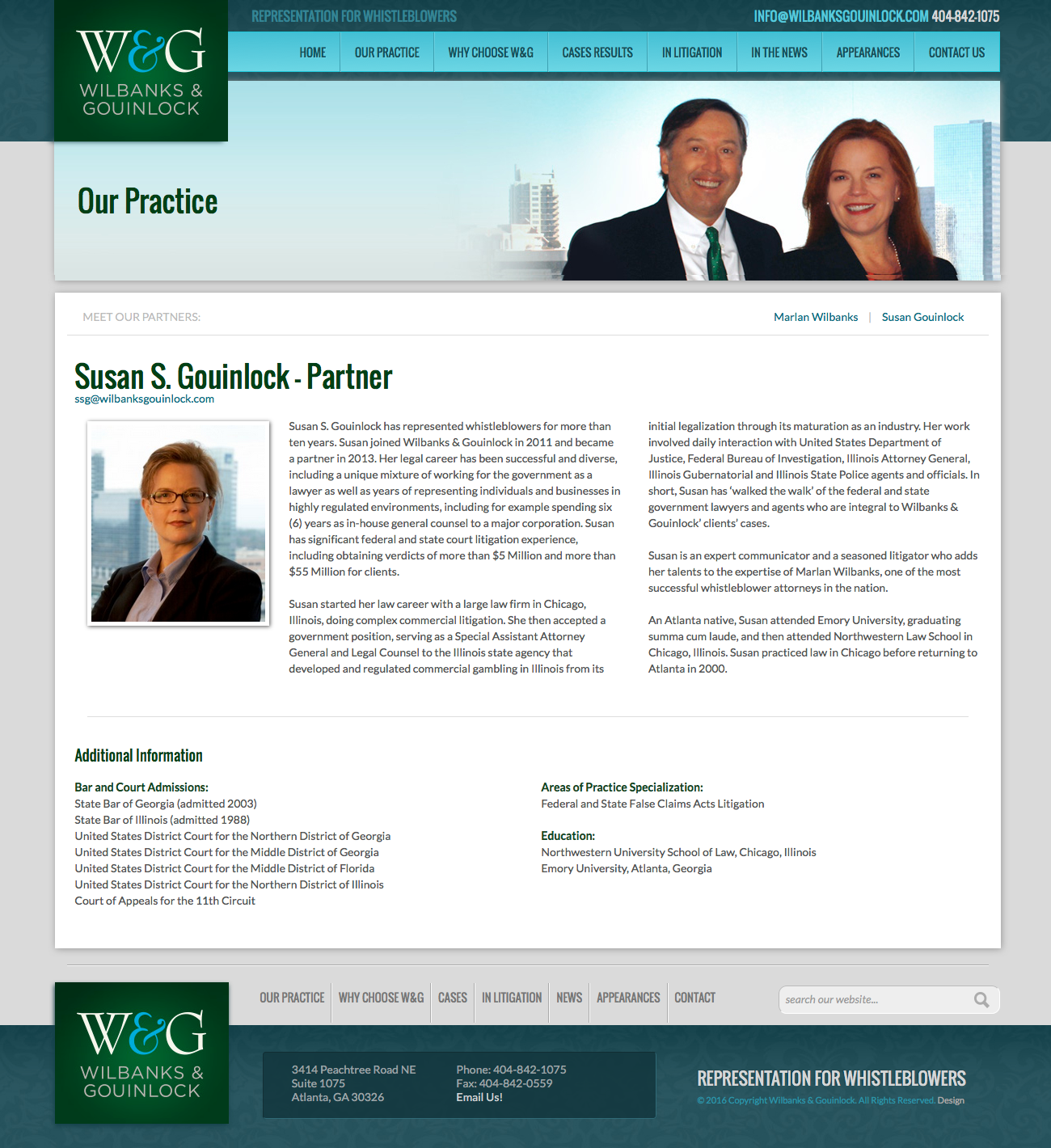 Wilbanks & Gouinlock Website Homepage